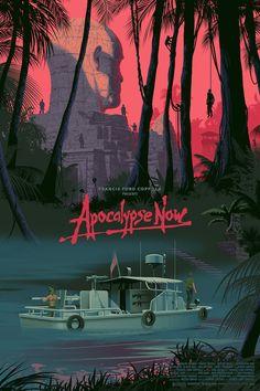 art The Art of Laurent Durieux: Online Release! Apocalypse Now (Dschungel) von Laurent Durieux Best Movie Posters, Classic Movie Posters, Cinema Posters, Movie Poster Art, Cool Posters, Cinema Tv, Movie Prints, Poster Prints, Science Fiction Art