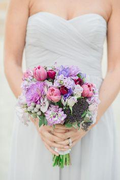 Lavender Bouquets for the Bridesmaids