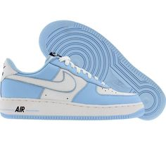 best sneakers 6c730 e0f19 Nike Womens Nike Air Force 1 Low 03 (white  white  ice blue  obsidian  blue)
