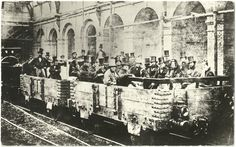 The first ever underground train journey. Edgware Road Station, London. [1862]