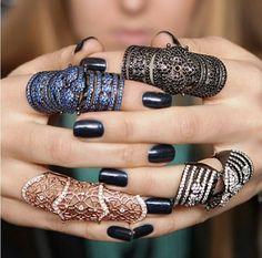 Knuckle rings ~ Instagram