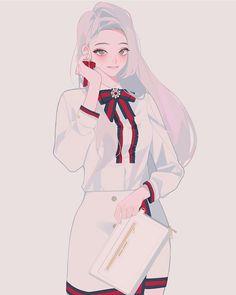 New Korean Anime Aesthetic Wall Paper 22 Ideas Female Character Design, Character Design Inspiration, Character Art, 5 Anime, Anime Wolf, Kawaii Anime Girl, Anime Art Girl, Anime Girls, Anime Outfits