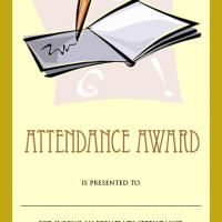Free Printable Attendance award. Give a like!