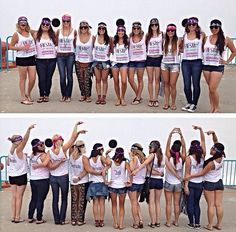 Bachelorette Idea! Matching T-shirts for a cruise to Mexico! Last fiesta, cruise, classy bride, hipster, fun bachelorette idea, matching...