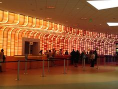 Another view of a great check-in/registration/information center.  (Registration Area of Animation Hall - Disney)