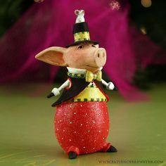 Mini Pierre Pig Ornament