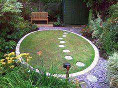 circular garden entrance | Found on gardensanctuaries.co.uk
