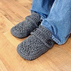 Opa mens slippers...this means I'd have to learn to crochet...who has that kinda time?