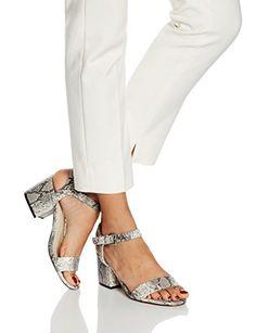 Another Pair of Shoes SelinaaK3, Sandales Bride cheville femme, Multicolore (black/white203), 36 EU