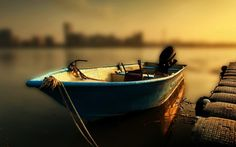 лодка, природа, стиль, озеро