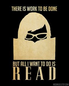 All I want to do is read...
