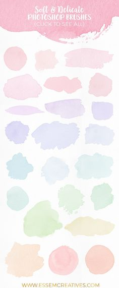 Soft & Delicate Watercolor Brushes - Brushes