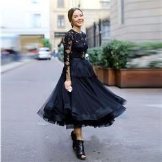 Find More Prom Dresses Information about 2016 Elegant O Neck Lace Appliques Long Sleeve Evening Gown Tea Length Pageant Black Prom Dresses Vestido de Festa,High Quality dress handkerchief,China dress sequined Suppliers, Cheap lace designer wedding dresses from Kingshow Bridal on Aliexpress.com