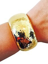HOT HAMMERED GOLD Bangle Bracelet Cover Sleeve Protector For FITBIT CHARGE / HR