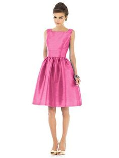 Reminds me of the pink dresses that woman wears in the phone commercials.