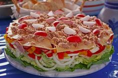 Party salad 3 Source by gugklein Spicy Appetizers, Finger Food Appetizers, Finger Foods, Appetizer Recipes, Snack Mix Recipes, Spicy Recipes, Salad Recipes, Cooking Recipes, Party Salads