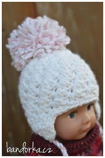 bandorka: Háčkovaná newborn nebo Babyborn ušanka Crochet Stitches, Crochet Hats, Baby Born, Goth, Retro, Handmade, Crocheting, Bags, Knitting Hats