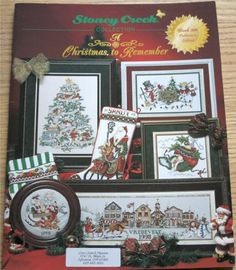 A Christmas To Remember Cross Stitch Stoney Creek Book