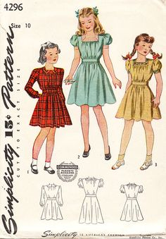 Vintage 1940s Girls' Tweens And Young Teens by daisyepochvintage, $10.00
