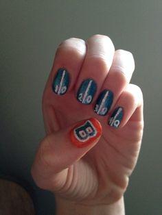 Go broncos! #boisestate nails