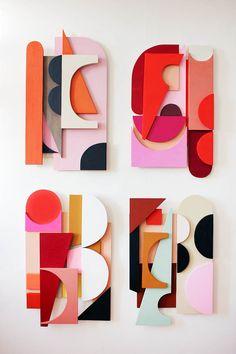 Wall Sculptures, Sculpture Art, Abstract Geometric Art, Wood Wall Art, Art Lessons, Paper Art, Artwork, Glass Art, Illustration