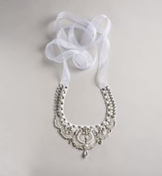 Crystal Couture Embroidered & Beaded Necklace $90