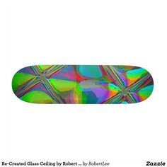 Re-Created Glass Ceiling by Robert S. Lee Custom Skateboard #Robert #S. #Lee #skateboard #board #decks #skater #design #colors #customizable #re-created