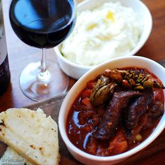 Ostrich-Sausage-and-Waterblommetjie Casserole Sausage Recipes, Casserole Recipes, Meat Recipes, Ostrich Meat, South African Recipes, Tasty, Yummy Food, Chicken Wings, Food To Make