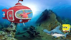 Spongebob squarepants Cry At Beach Shark attack \\ Peppa pig English Fun...