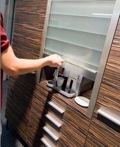 Four Popular Appliance Garage Cabinet Options from Häfele Hardware Diy Kitchen, Kitchen Interior, Kitchen Cabinets, Garage Cabinets, Kitchen Pass, Kitchen Organization Pantry, Kitchen Storage, Küchen Design, House Design