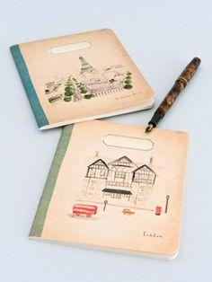 Paris and London notebooks - beautiful illustrations.