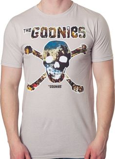 Goonies Skull Collage T-Shirt - Movie T-Shirt