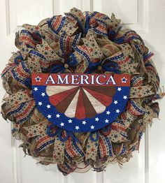 of July Wreath, Patriotic Decor, Independence Day, Labor Day Wreath, America. Patriotic Wreath, 4th Of July Wreath, Easter Wreaths, Holiday Wreaths, Military Wreath, Deco Mesh Wreaths, Rustic Wreaths, Memorial Day Wreaths, 4th Of July Decorations