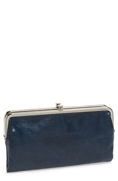 Free shipping and returns on Hobo 'Lauren' Double Frame Clutch at Nordstrom.com. Soft, textured leather in a two-sided design is perfectly proportioned for traveling light. Clutch opens at the center to reveal card slots, an ID window and a full-length zip pocket. Frame at one end has openings for more cards, while the frame at the other conceals a zip pocket.