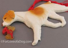 Brittany Spaniel Dog Christmas Ornament at For Love of a Dog Jewelry