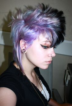purple and blue short style hair The Effective Pictures We Offer You About blue hair makeup A qualit Messy Hairstyles, Pretty Hairstyles, Short Punk Hair, Goth Hair, Hair Dye Colors, Hair Color, Bright Hair, Hair Art, Purple Hair