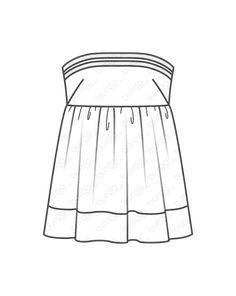 burda style, burda style Magazin Schnitt, Bandeautop - gesmokt 05/2013 #121, Das Bandeau-Top mit seinem eingereihten Unterteil hat einen gesmokten Einsatz im Rücken. Style Magazin, Cheer Skirts, Tops, Fashion, Moda, Fashion Styles, Fashion Illustrations