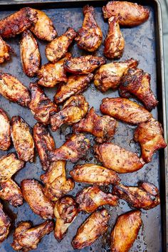 Irresistible, smoky, and crispy-skinned charcoal grilled chicken wings. Marinated in olive oil, herbs and soy sauce. Grilled Chicken Wings, Grilled Chicken Recipes, Chicken Wing Recipes, Grilled Meat, Bbq Chicken, Grilling Recipes, Cooking Recipes, Grilling Tips, Bbq Tips
