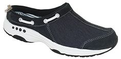 Easy Spirit Women's Travelport Mule Navy Style 60301467, 6W - Easy spirit mules and clogs for women (*Amazon Partner-Link)