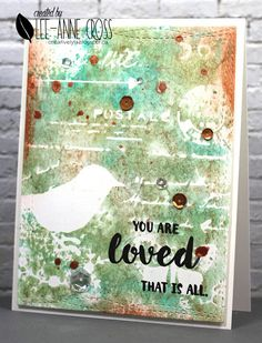 Stencil monoprint with TCW630S stencil, Distress Inks, Perfect Pearls and Inka Gold