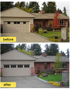 This House Was Transported Out Of The And Into Present Simply By Replacing Garage Door