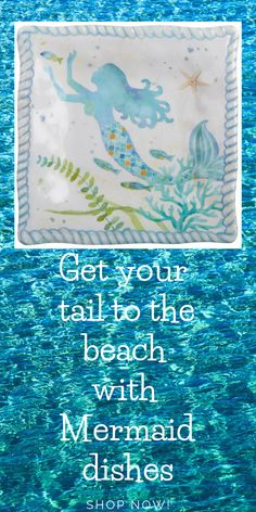 Vintage Style Redhead Mermaid Sign Teal Framed Metal Coastal Beach Home Decor