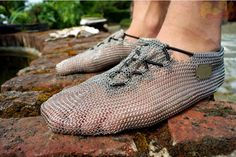 Nothing should be able to penetrate these mesh hiker shoes! So medieval !