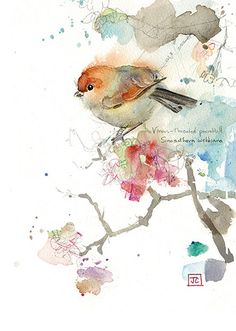 Parrotbill by Jane Crowther. Design for Bug Art greeting cards.
