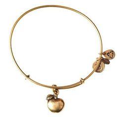 Alex and Ani Apple of Abundance Charm Bangle Bracelet - Rafaelian Gold Finish - Item 19278670