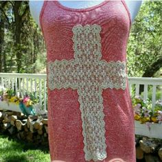 Lace Cross Tank Cute comfortable lace cross tank. Boutique Tops Tank Tops