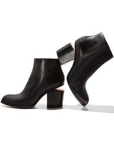 Alexander Wang, Gabi Tumbled Leather Liftheel Ankle Boot