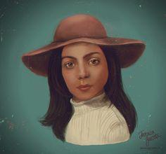 LITTLE GAGA digital painting by JESSICA GUETTA Jessicaguetta.tumblr.com . Instagram : @JessicaGuetta  #art #digital #painting #lady #gaga #joanne #little #young #fan