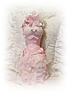 Victorian pink dress form