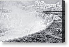 - Horseshoe Falls Canvas Print by Garvin Hunter